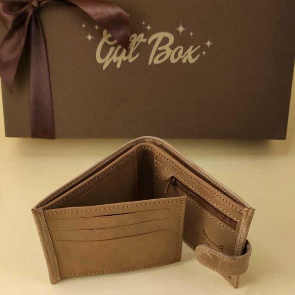 Poklon kutija Veći kožni novčanik i STR8 parfem box 00025-4